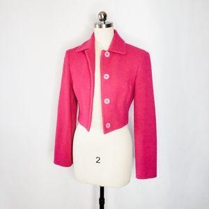 Of Benetton Hot Pink crop wool blazer Italy 40